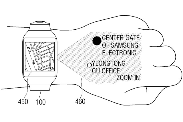 Samsung Smartwatch Concept Design Turns Your Hand Into A Display Screen
