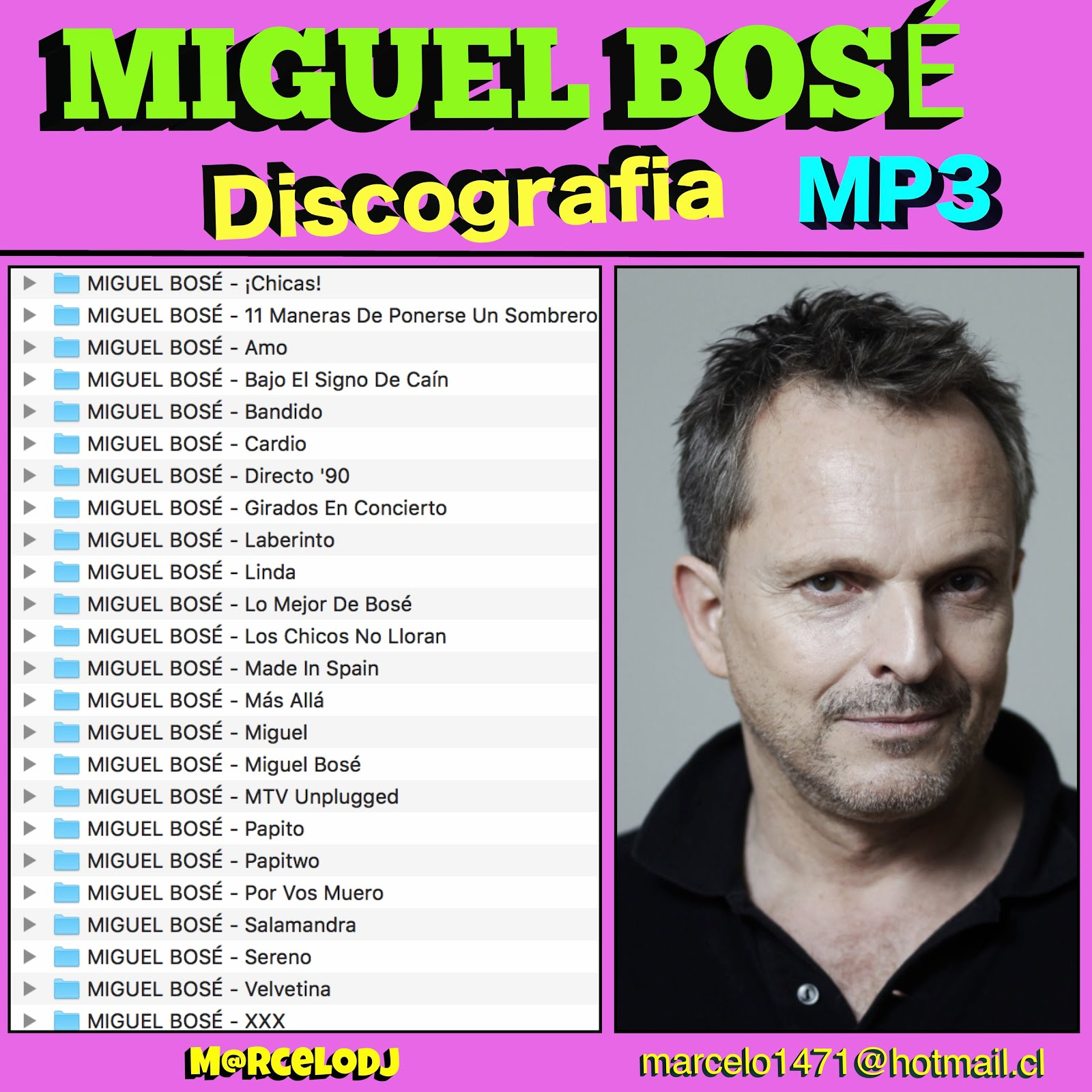 Discografía De Miguel Bosé