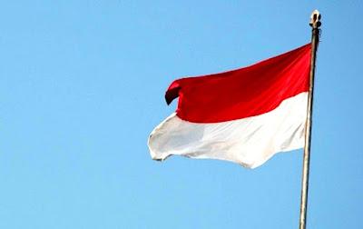 Bendera Merah Putih Indonesia Berkibar