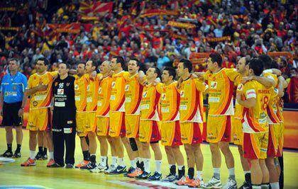 MACEDONIAN HANDBALL PLAYERS AT A SUPER CUP BEFORE THE WC IN QATAR
