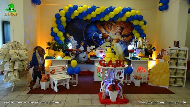 Decoração de mesa temática A Bela e a Fera - Aniversário - Provençal simples