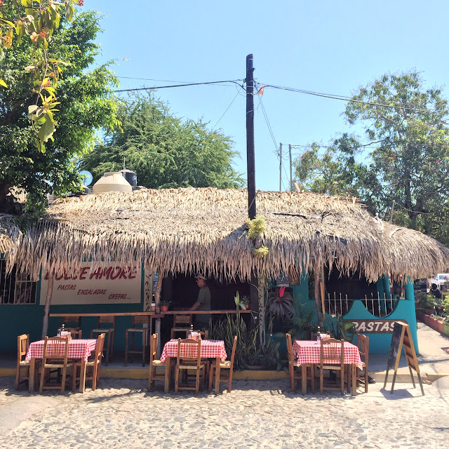 a restaurant in San Pancho Mexico