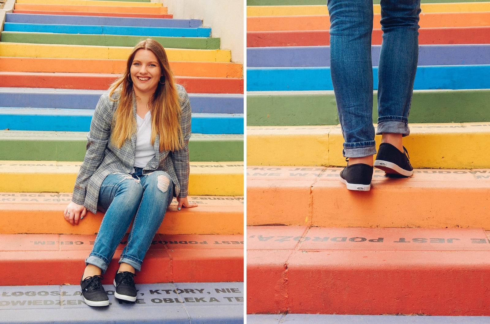 7a nakd zniżka outfit moda blog modowy jak nosić marynarkę w kratkę tshirt z kaktusem jak nosić podarte jeansy vansy moda streetwear style fashion outfit blog lifestyle łódź