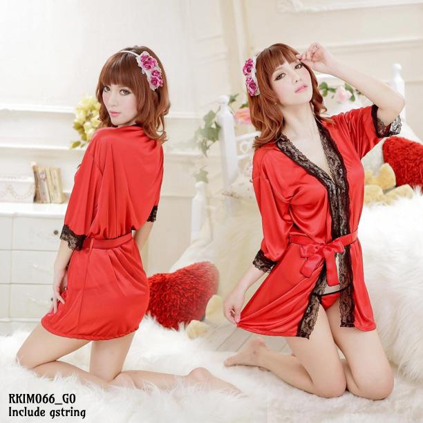 Jual Lingerie Seksi Kimono Merah (RKIM066) Produk Import 100% Berkualitas Terbaik Nyaman dipakai dengan Harga Grosir dan Ecer Termurah.