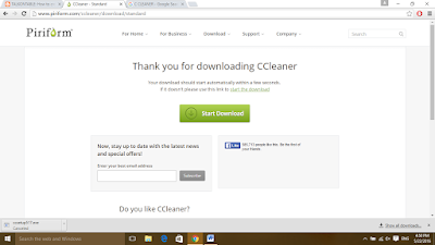 thankyou for downloading ccleaner