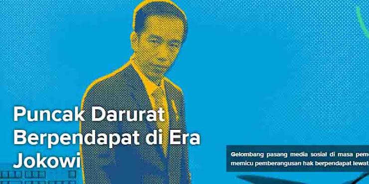 Puncak Darurat Berpendapat di Era Jokowi, Pemberangusan Bersuara Lewat sejuta UU ITE