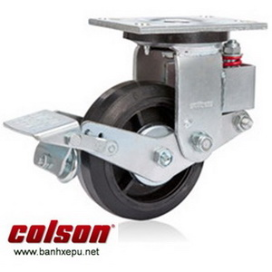 Bánh xe đẩy caster giảm xóc Colson chịu tải 400kg | SB-8509-648BRK1 banhxepu.net