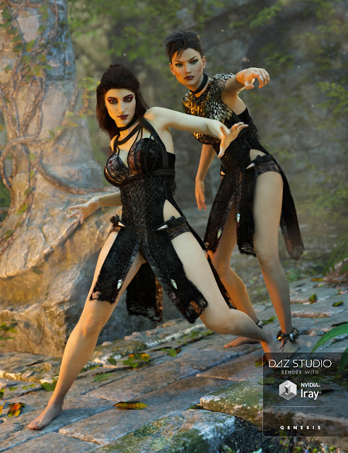 Keres Outfit for Genesis 3 Female