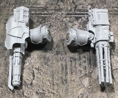 WIP Warlord Battle Titan Weapons for Adeptus Titanicus - Quake Cannon and Macro Gatling Blaster