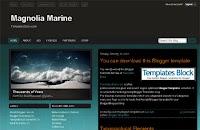 Magnolia Marine Blogger Template