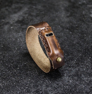 third anniversary leather jewelry gift fit bit bracelet