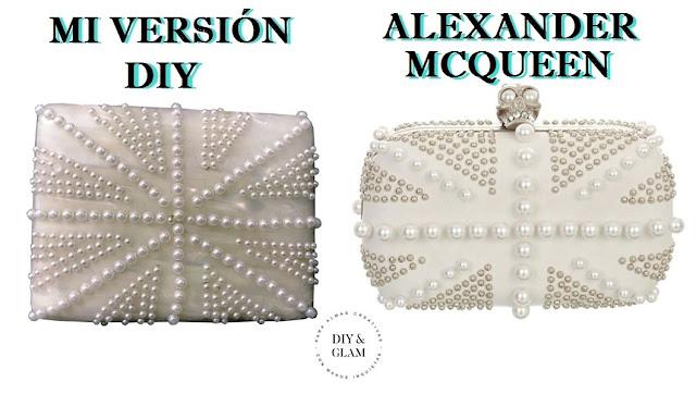 DIY clutch inspirado en Alexander Mcqueen