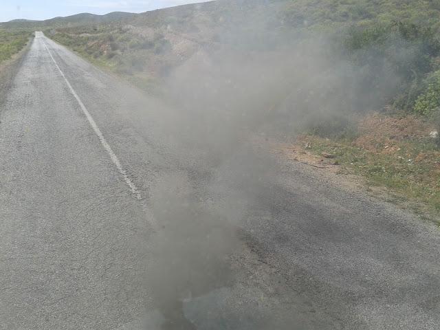Moteur du bus CTM en fumée
