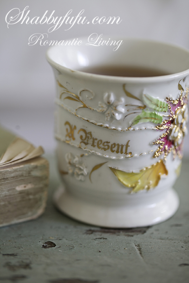 antique present cup