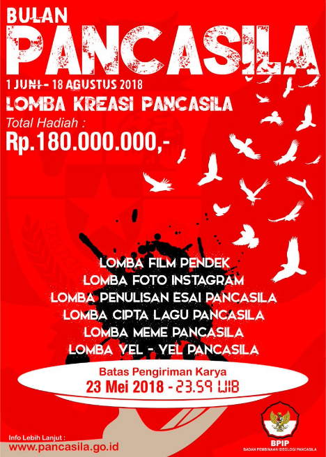 Lomba Film Pendek Pancasila Nasional 2018 di BPIP [Gratis+ Hadiah 30 Jt]