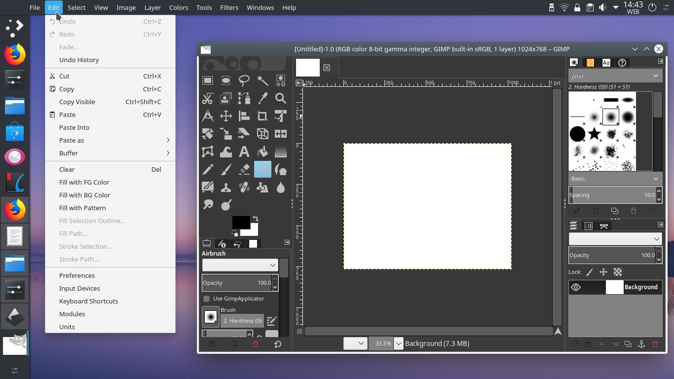KDE Plasma Desktop + Vertical Panel + Global Menu