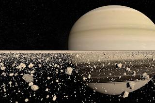 Los anillos de Saturno vistos de cerca