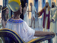 "Then Moses and Aaron went to the Pharaoh, ""O' Pharaoh, the Lord God of Israel says, let my people go."""