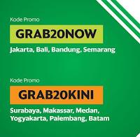 Kode Promo GrabCar GRAB20NOW GRAB20KINI