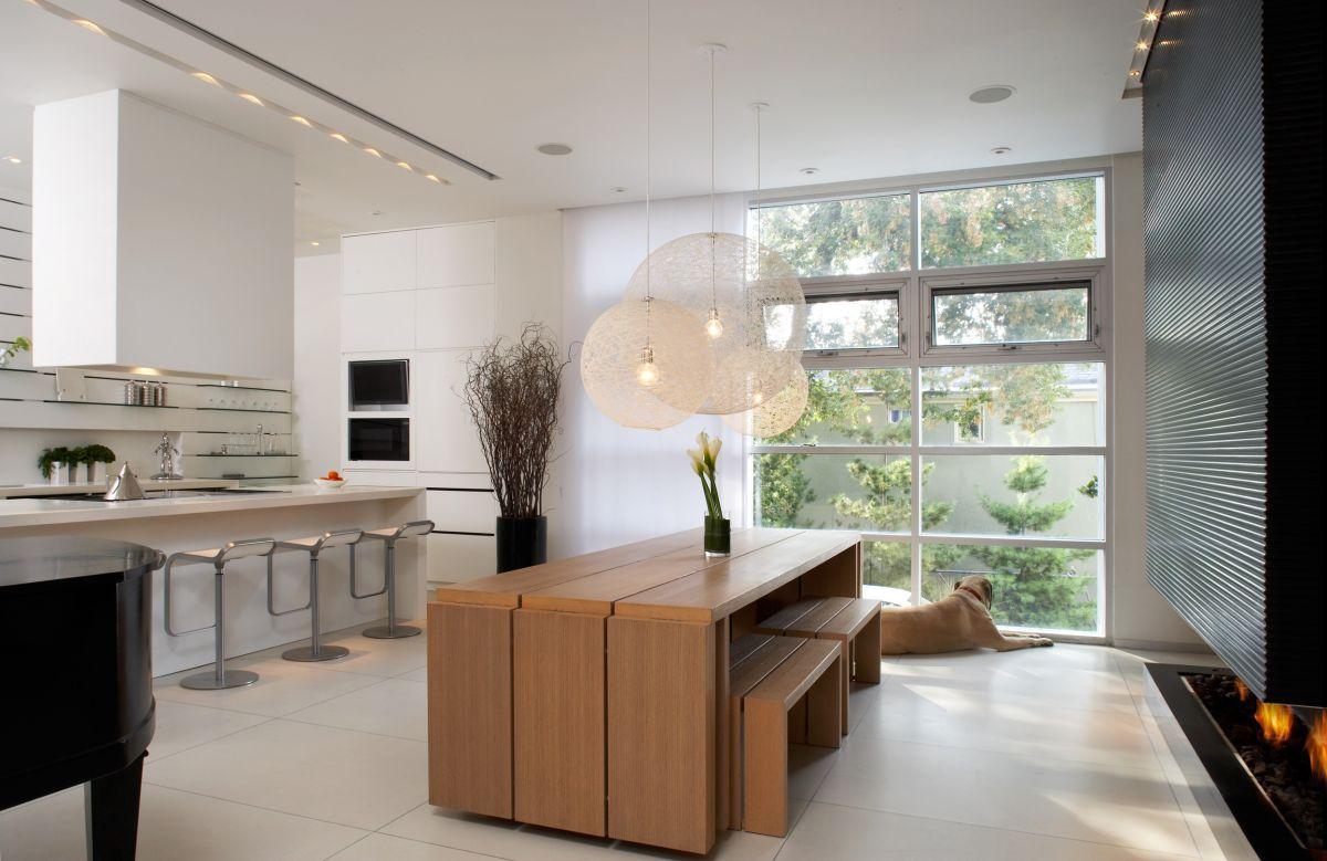 Cucina soggiorno luce pareti di luce per separare gli ambienti