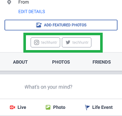 How to add instagramtwittersocial sites buttons to facebook once you add your profilesinstagram twitter snapchat or moreto facebook profile youll see separate buttonslinks of your these social medial profiles ccuart Images