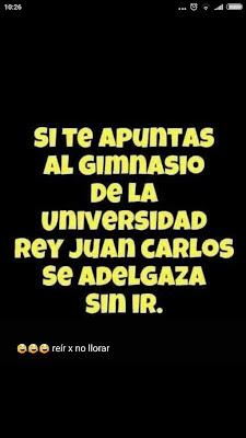 Máster, Universidad Rey Juan Carlos,gimnasio