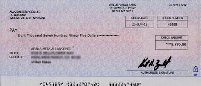 scam bank checks