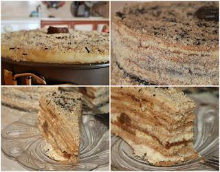 Рецепта за торта с домашен крем и сладко от смокини