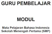 gambar Modul Guru Pembelajar Bahasa Indonesia Kompetensi A Pedagogik dan Profesional