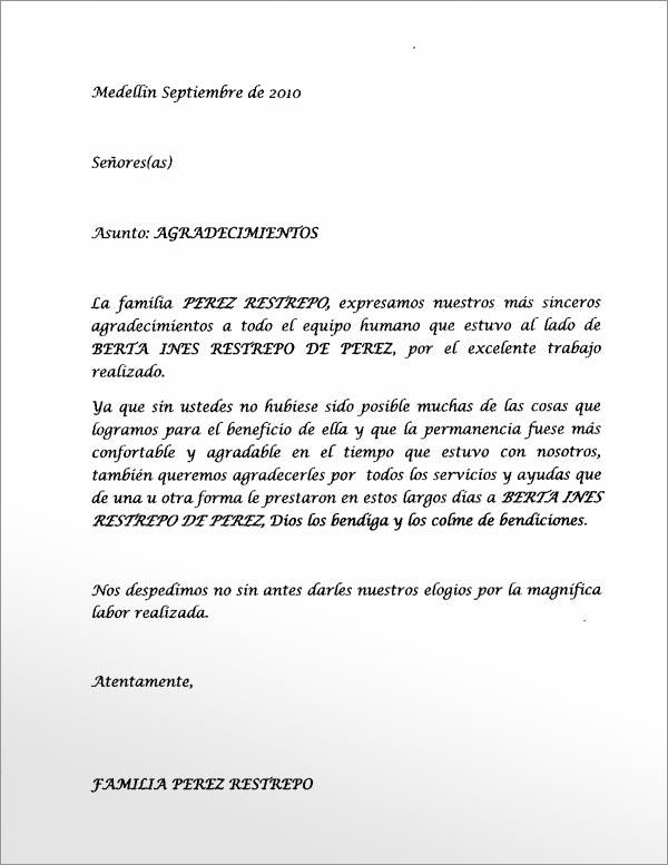 Carta De Agradecimiento Portafolio De Zoraida Nij