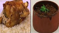 برنامج  طبخة و نص 3-9-2016 طريقة عمل الدجاج المكمور - طاجن فريك مع قلوب الدجاج - محشي الباذنجان الآبيض بالكزبرة مع عماد الخشت