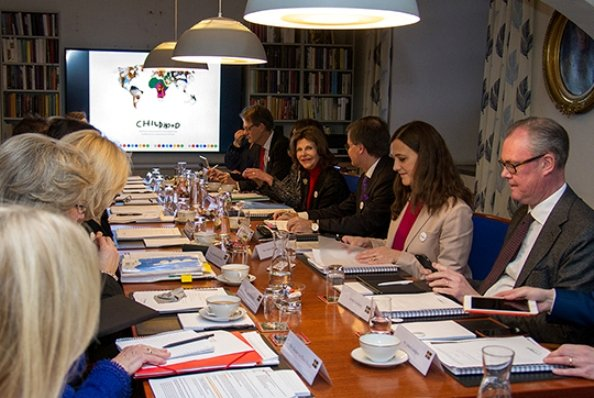 Queen Silvia of Sweden attended Board meeting of World Childhood Foundation