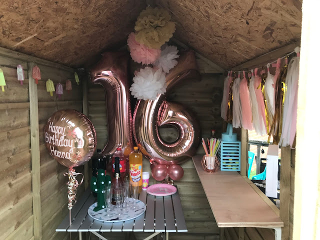 Create a Party Bar from a Lean To Shed