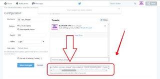 cara memasang twitter di blog