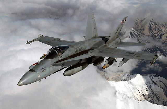 A USMC F/A-18 CRASHED