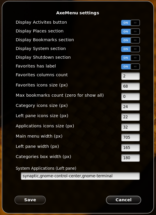 Axe Menu: A Good-Looking and Customizable Menu For Gnome Shell