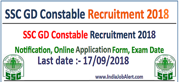 SSC Recruitment 2018 || Apply online for Constable (GD & Rifleman) – 54953 Posts
