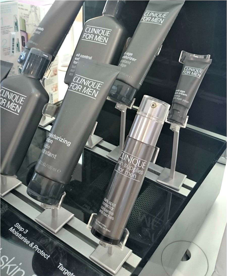 Mens Beauty at Debenhams Beauty Hall, Clinique, Beauty Blog, The Style Guide Blog