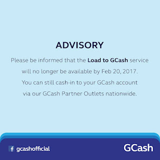 Globe's Load to GCash Service Ended on Feb  20, 2017 | PinoyTechSaga
