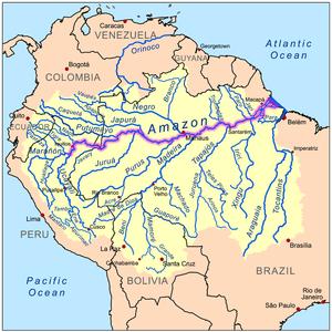 Mapa do Rio Amazonas