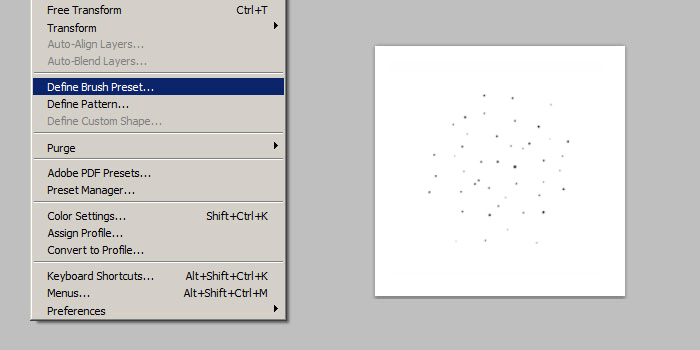 custom photoshop starfield brush