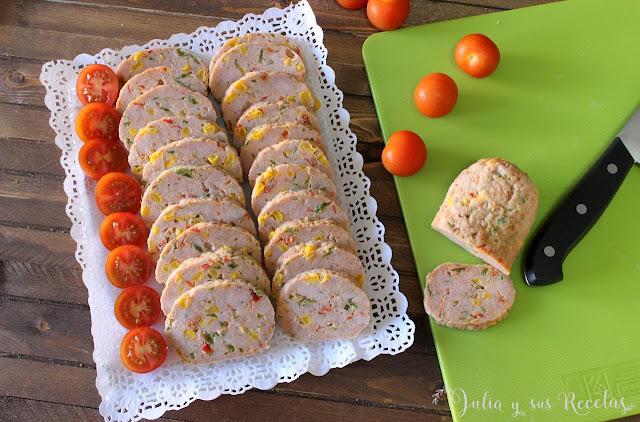 Galantina de pollo. Julia y sus recetas