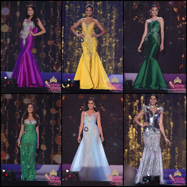 SASHES AND TIARAS.....Miss Philippines Universe Binibining Pilipinas 2016 Finals EVENING GOWN RECAP!