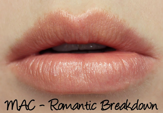 MAC Romantic Breakdown lipstick swatches & review
