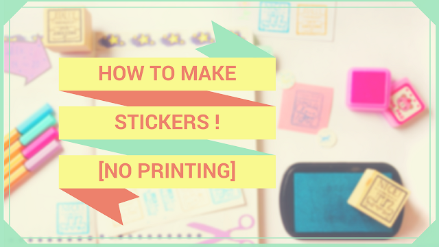 Koori Style, KooriStyle, DIY,How To, Stickers, Calcomanías, Pegatinas, Como hacer, scrap paper, upcycle, recycle, ideas, bullet journal, planning, idea, how to make stickers, stickers diy, pegatinas caseras, stickers caseras, fácil, easy, affordable, do it yourself, how to