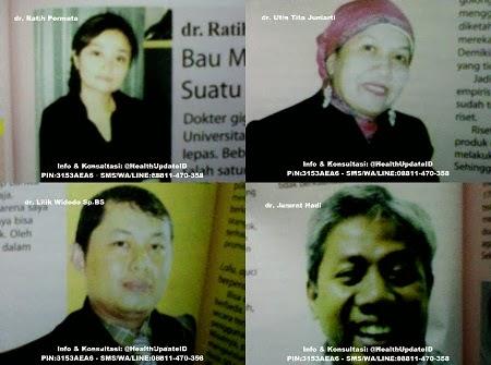 Testimonial dan Kesaksian Dokter tentang Tiens, Dokter Ratih Permata Dokter Utin Tita Juniarti Dokter Lilik Widodo Sp.BS Dokter Jumrat Hadi