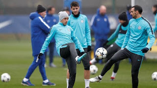 chelsea, training, morata, pedro, champion league
