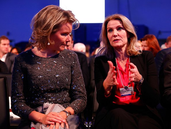 Queen Mathilde of Belgium, Anne-Sophie Mutter, Forest Whitaker and Shakira at Crystal Awards ceremony
