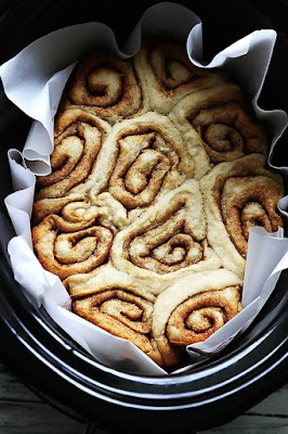 Slow Cooker Cinnamon Rolls from Creme de la Crumb found on SlowCookerFromScratch.com