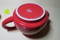 Kanne unten: Porzellan Teekannenservice von Original First Tea (Rot)